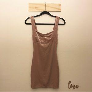 Forever 21 Pink Velvet Mini Dress